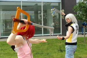 Kairi and Riku - Training to become a Master by Kyathist