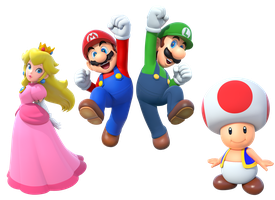 Team Super Mario Bros. 2 (2015 render) by Banjo2015