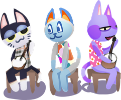 Cats w/ Banjos by danceswithzerg