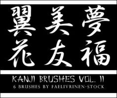 Kanji brushes vol. II by faelivrinen-stock