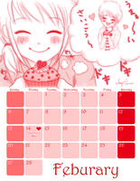 Feb Calendar by Pink-world