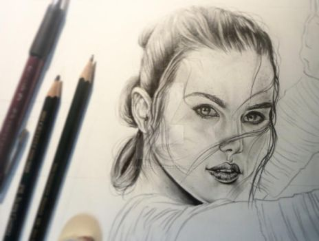 Rey WIP by ChrisStoner