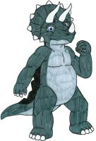 Anthro Triceratops by MCsaurus