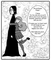 Snape vs Mary-Sue by snapefanclub
