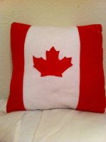 Canadian Flag Pillow by Annelixa