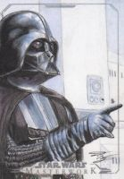 Star Wars Masterwork - Darth Vader Sketch Card 1 by DenaeFrazierStudios