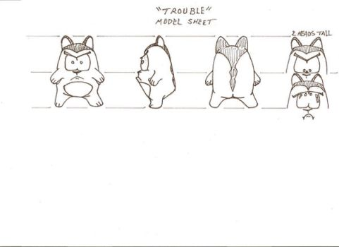 HELP ME, Cartoon Model Sheet by TheDancinBear