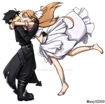 Asuna x Kirito sticker by Roxy12333