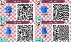 Animal Crossing New Leaf Mega Man Design QR-Code by Stiv64