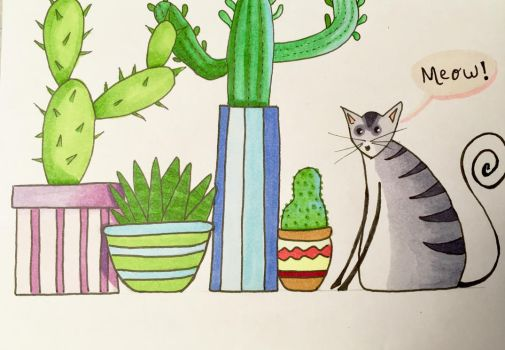Cactus doodle by LuckyOwl2306