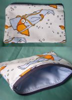 Squid and Whale Pouch by treesofmachinery