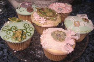 Vintage Lace Cupcakes by S-y-c