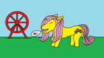 Giant Fluttershy and Ferris Wheel by WhippetWild