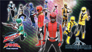 Go-Busters vs. Gokaiger Wallpaper by UnknownChaser