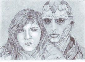Me and  Thane by Angua33
