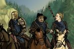 Stormcloak Brittana (And Quinn) by Paperclip-freak