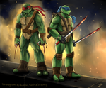 It's either them or us (Raph and Leo) by BakaMeganekko