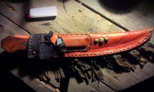 Fringed Bowie Sheath by JoshSkaarup