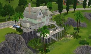 Sims 3 hillside home by RamboRocky