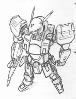 Quick Pen Sketch: Mecha by Darcad