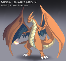 :DAY 22: Mega Charizard Y by AkaPanuka