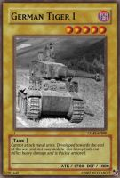 German Tiger I card by Mexicano27