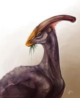 Parasaurolophus by Key-Feathers