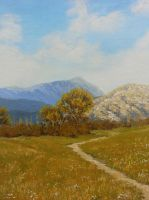 Spring.And mountains. by YarriK40Simf