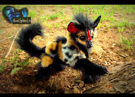 --SOLD--Poseable Fully Hand Made Baby Hyena! by Wood-Splitter-Lee