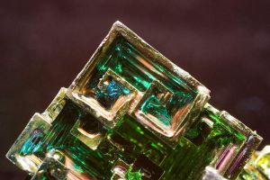 Bismuth Crystal Detail by LongingForAutumn