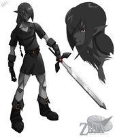 Adult Dark Link by WhiteFoxCub