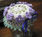 Crochet jar lid cover... by doilydeas