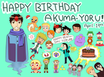 HAPPY BIRTHDAY AKUMA-Y0RU! by iKushina