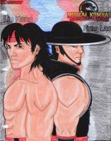 Mask: Kung Lao and Liu Kang by Princess-Flopy-13