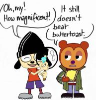 Parappa and PJ as Edd and Ed by LazyAsHell