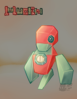 Mugen - The Fighting type Porygon by lurils