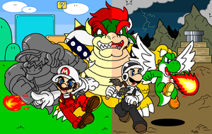 super mario DS collab by Nintendrawer