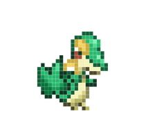 Snivy pixel art by lane-nee-chan