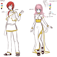 Veran and Vernice - Redesign - Reference by Na-Nami