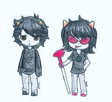 Kk and Terezi by Hayane-chan-SNP
