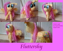 Fluttershy plushie by Crystal-Dream
