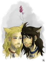 Cat!Fili and Doggy!Kili by AlyTheKitten