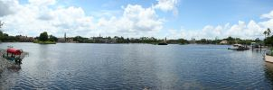 World Showcase Panorama by AreteStock