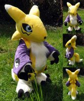 Renamon Plush v2 by Sethaa