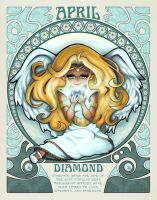 Birthstones Nouveau - April by cute-loot