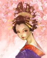 "Oiran ""weeping cherry version"" by pu"