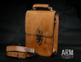 Small Satchel 1 by Blackthornleather