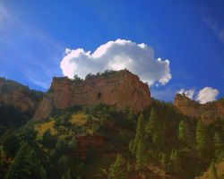 Cliffs in the Clouds by greenunderground