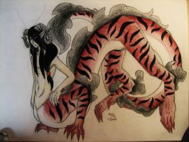 Red Dragontaur Adopt (CLOSED) by SiloBaby
