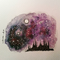 Galaxy Castle by minimalisticnecia